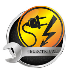 electricity repair and service symbol vector image