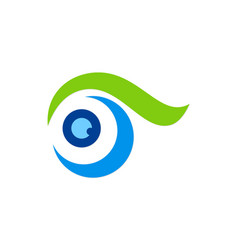 eye abstract swirl logo vector image