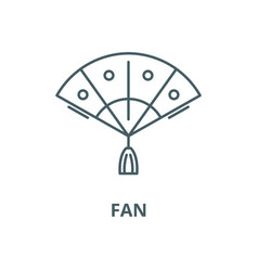 fan line icon linear concept outline sign vector image