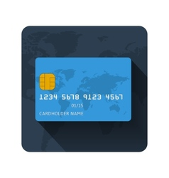flat credit card icon vector image