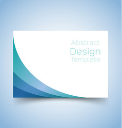 Flyer template wave design 3 vector
