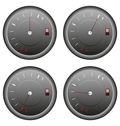 Fuel meter set vector image