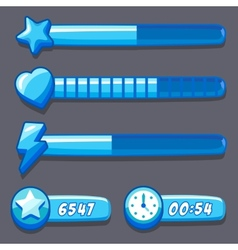 Game ice energy time progress bar vector