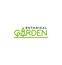 Garden lettering logo vector