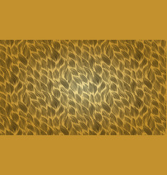 gold wavy seamless pattern doodle hand vector image