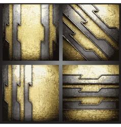 golden background set vector image