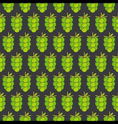 Green grapes bunch pattern design for wrapping gif vector