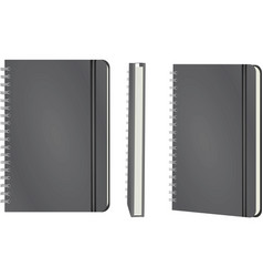 grey notebook template vector image