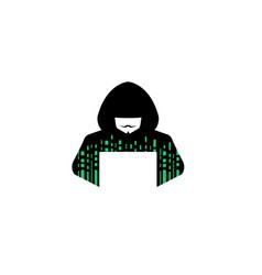 hacker logo vector image