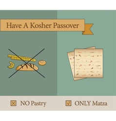 have a kosher passover holiday vector image