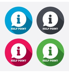 Help point sign icon Information symbol vector image