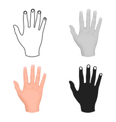 High five icon in cartoon style isolated on white vector