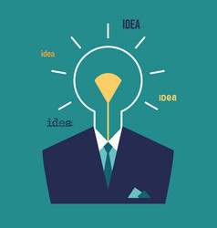 Innovative idea modern stylish concept with light vector