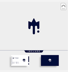 King paint logo template design icon vector