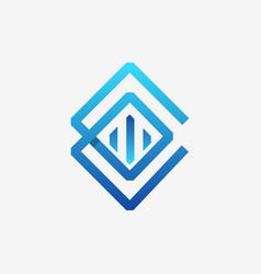 letter cc minimalist business logo design vector image