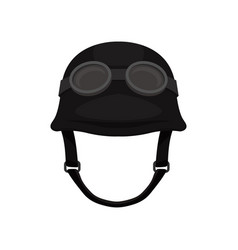 old-fashioned motorcycle helmet with goggles vector image