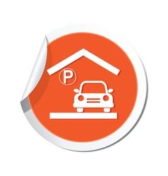 parking under roicon orange sticker vector image
