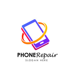phone repair logo logo design phone shop logo vector image