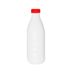 plastic bottle of milk or kefir in vector image