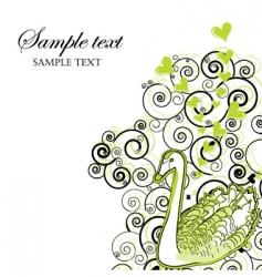 romantic template vector image