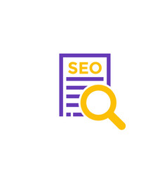 seo icon on white vector image
