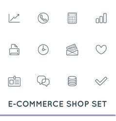 set of e-commerce icons shopping and online can vector image