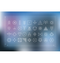Set of geometric hipster shapes vector image