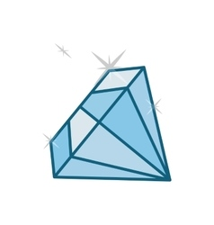 Shiny diamond emblem icon image vector