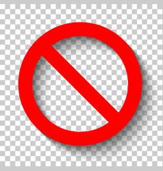 sign ban1 vector image vector image