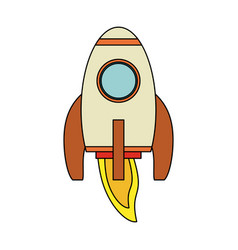 spaceship rocket cartoon vector image