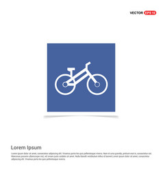 Sport bicycle icon - blue photo frame vector