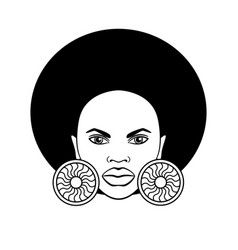 Stylized image a beautiful african woman vector