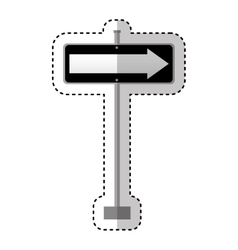 Traffic signal information with arrow icon vector
