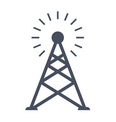 Transmitter tower icon vector