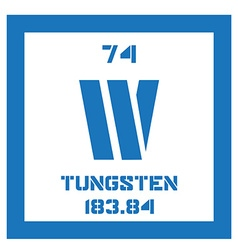 Tungsten chemical element vector image