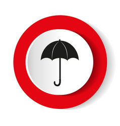 umbrella red icon flat design vector image
