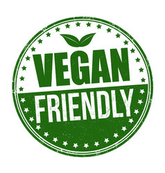 vegan friendly sign or stamp vector image