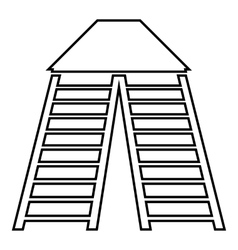 Vertical ladders icon outline style vector image