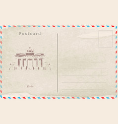 vintage postcard design capitals of the world vector image