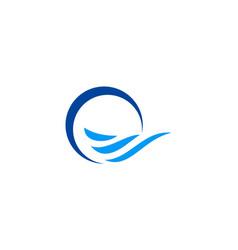 water wave abstract logo vector image