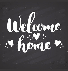 Welcome lettering handwritten sign hand drawn vector