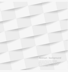 white geometric background texture with shadow vector image