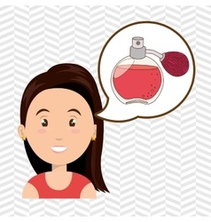 woman salon fragrance vector image