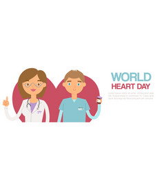 world heart day web poster for health and medicine vector image