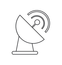 antenna dish transmission thin lin vector image