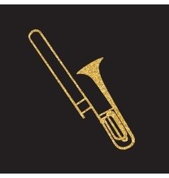 Brass Instrument Trombone which Plays Jazz Music vector image
