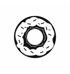Donut icon in simple style vector image