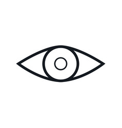 eye vision look human outline vector image vector image
