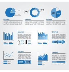 Set of Infographics Elements Blue Colors vector image vector image