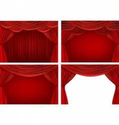 stage curtains vector image vector image